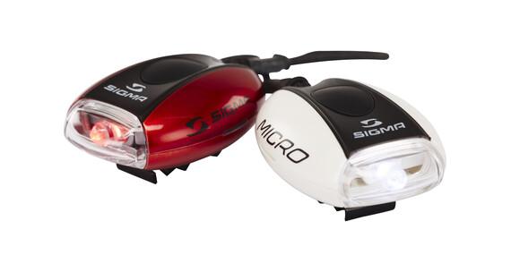 SIGMA SPORT Micro Set faretti Combo rosso/bianco